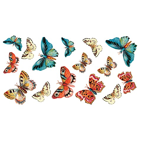 Mariposa Butterflies Vinyl Wall Decal Set