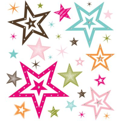 Star Girl Vinyl Wall Decal Set