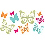 Glitter Butterflies Vinyl Wall Decal Set
