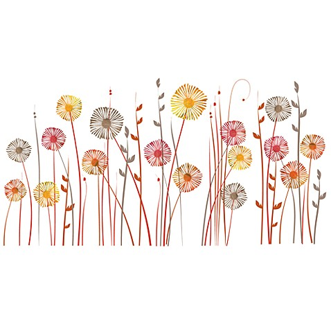 Poppies Vinyl Wall Decal Set
