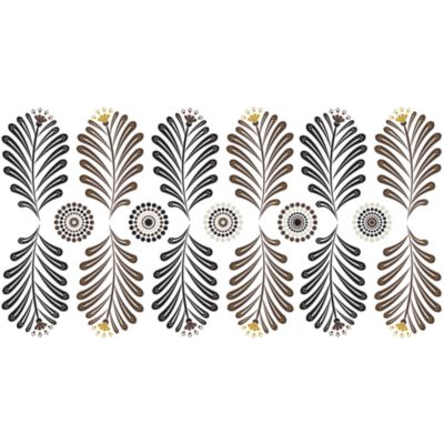 Ferns and Medallions Vinyl Wall Decal Set