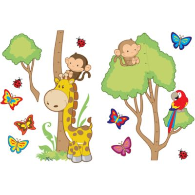 Safari Growth Chart Vinyl Wall Decal Set