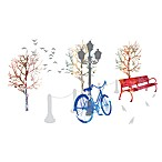 Street Scene Vinyl Wall Decal Set