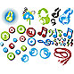 Pop Music Vinyl Wall Decal Set