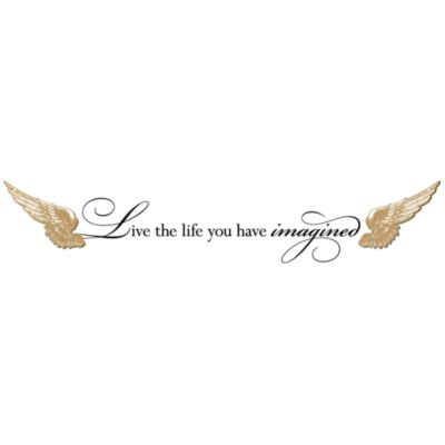 Live the Life You Have Imagined 3-D Vinyl Wall Decal Set