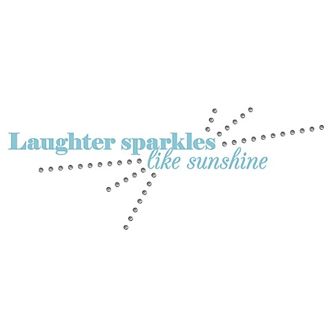 Laughter Sparkles Like Sunshine 3-D Vinyl Wall Decal Set