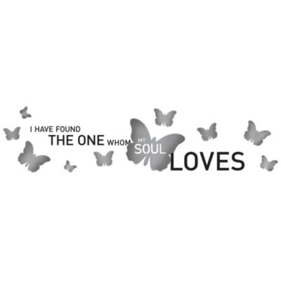 I Have Found the One Whom My Soul Loves 3-D Vinyl Wall Decal Set