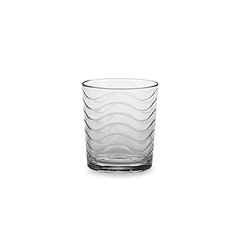 Wave 13-Ounce Double Old Fashioned Glasses (Set of 4)