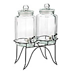 Home Essentials Del Sol Twin 1-Gallon Beverage Dispensers on Metal Rack