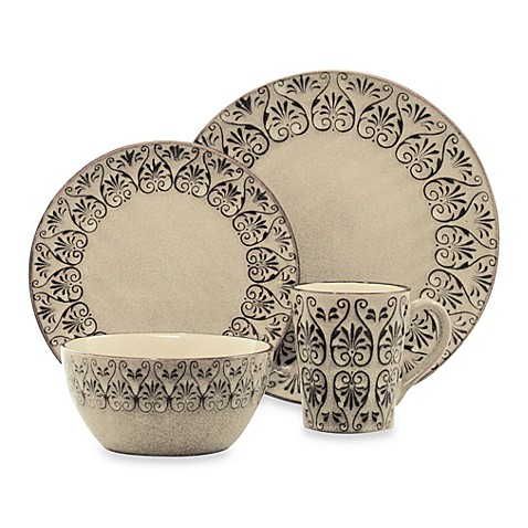 222 fifth sentosa 16 piece dinnerware set bed bath beyond for 222 fifth dinnerware