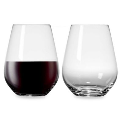 Nachtmann Crystal Vivendi 19-Ounce Stemless Wine Glasses (Set of 4)