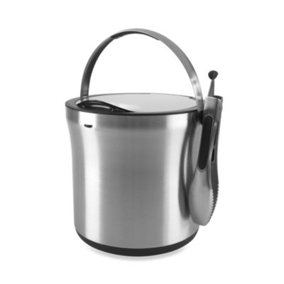 OXO SteeL® 4-Quart Ice Bucket & Tong Set