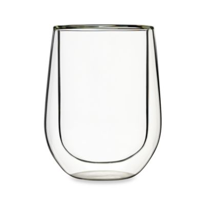 Luigi Bormioli Duos 14-Ounce Stemless Red Wine Glass (Set of 2)