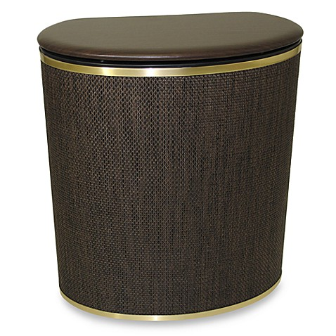 Buy bow front hamper in bronze from bed bath beyond - High end laundry hamper ...