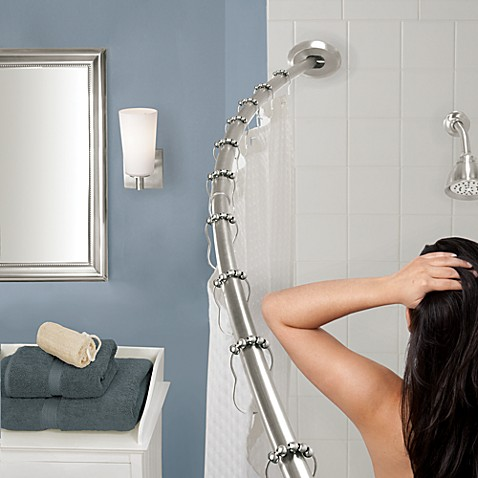 The Gripper Easy Install Adjustable Curved Shower Rod in Chrome