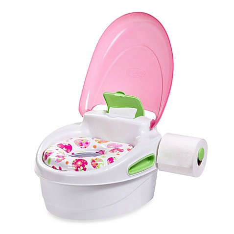 Step-by-Step Potty Trainer and Step Stool in Pink