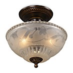 ELK Lighting Restoration 3-Light Semi-Flush Fixture in Golden Bronze