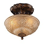 ELK Lighting Restoration 10-Inch 3-Light Semi-Flush Fixture in Antique Golden Bronze