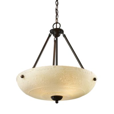 ELK Lighting Restoration 4-Light Pendant Fixture in Aged Bronze