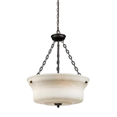 Elk Lighting Restoration 25-Inch 4-Light Pendant Fixture in Aged Bronze