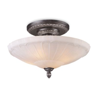Elk Lighting Restoration 4-Light Semi-Flush Fixture in Dark Silver