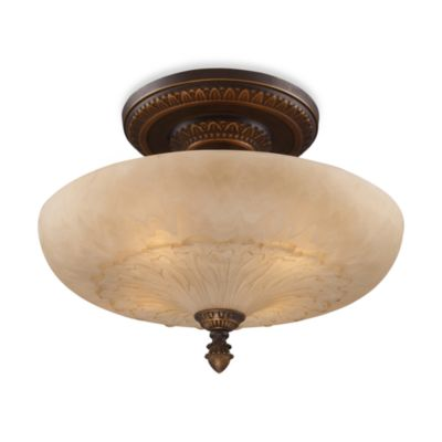 Elk Lighting Restoration 4-Light Semi-Flush Fixture in Golden Bronze