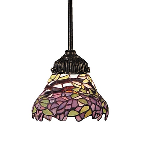 ELK Lighting Tiffany Bronze Mix-N-Match 1-Light Pendant Lamp in Lilac