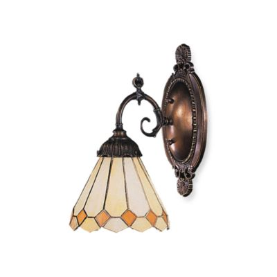 Elk Lighting 1-Light Mix-N-Match Sconce in Amber Diamond