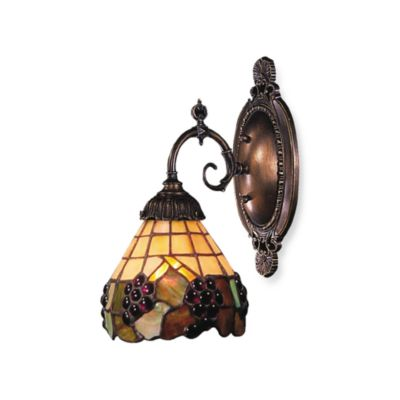 Elk Lighting 1-Light Mix-N-Match Sconce in Grape Trellis