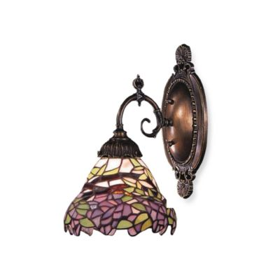 Elk Lighting 1-Light Mix-N-Match Sconce in Lilac Floral
