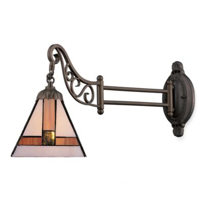 Elk Lighting 1-Light Mix-N-Match Swing Arm Wall Lamp in Tiffany Glass