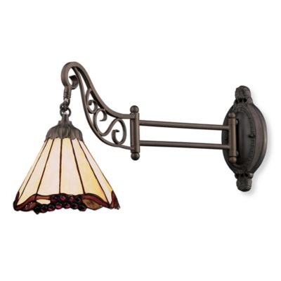 ELK Lighting 1-Light Mix-N-Match Swing Arm Wall Lamp in Grape Trellis
