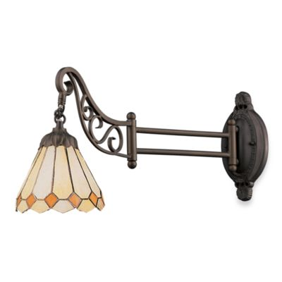 Elk Lighting 1-Light Mix-N-Match Swing Arm Wall Lamp in Amber Diamond