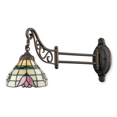 ELK Lighting 1-Light Mix-N-Match Swing Arm Wall Lamp in Tulip