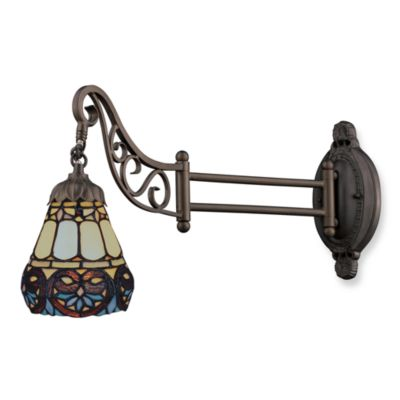 Elk Lighting 1-Light Mix-N-Match Swing Arm Wall Lamp in Floral Heart
