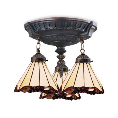 ELK Lighting Mix-N-Match Collection 3-Light Semi-Flush Pendant in Grape Trellis
