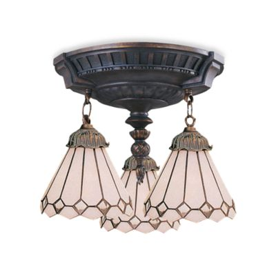 ELK Lighting Mix-N-Match Collection 3-Light Semi-Flush Pendant in Clear Diamond