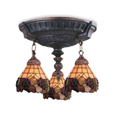 ELK Lighting Mix-N-Match Collection 3-Light Semi-Flush Pendant in Grapevine