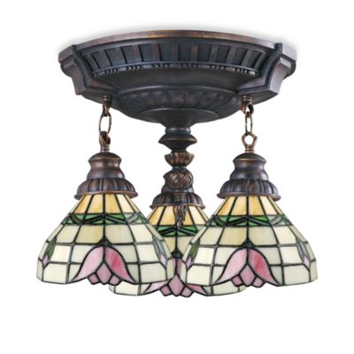 ELK Lighting Mix-N-Match Collection 3-Light Semi-Flush Pendant in Tulip