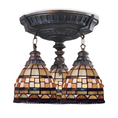 ELK Lighting Mix-N-Match Collection 3-Light Semi-Flush Pendant in Jewel Stone