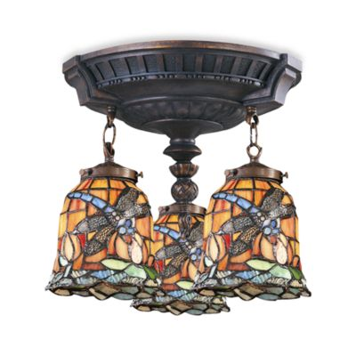 Elk Lighting Mix-N-Match Collection 3-Light Semi-Flush Pendant in Dragonfly