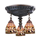 ELK Lighting Mix-N-Match Collection 3-Light Semi-Flush Pendant in Flower Vine