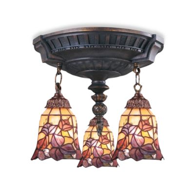 ELK Lighting Mix-N-Match Collection 3-Light Semi-Flush Pendant in Flower Garden