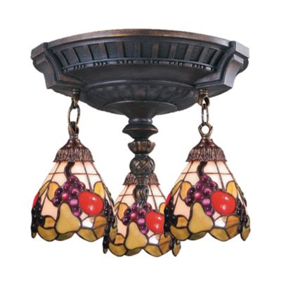 ELK Lighting Mix-N-Match Collection 3-Light Semi-Flush Pendant in Fruit