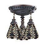 Elk Lighting Mix-N-Match Collection 3-Light Semi-Flush Pendant in Basketweave