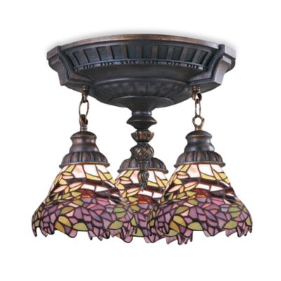 ELK Lighting Mix-N-Match Collection 3-Light Semi-Flush Pendant in Lilac