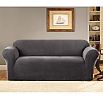 Sure Fit® Stretch Metro Grey One Piece Loveseat Slipcover