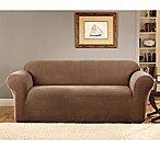 Sure Fit® Stretch Metro Brown One Piece Slipcovers