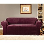 Sure Fit® Stretch Metro Burgundy One Piece Slipcovers