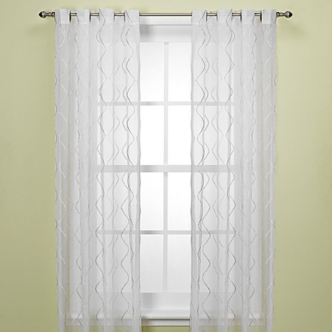 Delano Sheer 63-Inch Window Curtain Panel in Grey